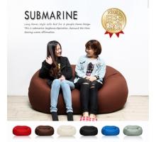 SUBMARINE潛水艇懶人雙人沙發-(6色) 限定加贈美腿枕【H&D DESIGN】