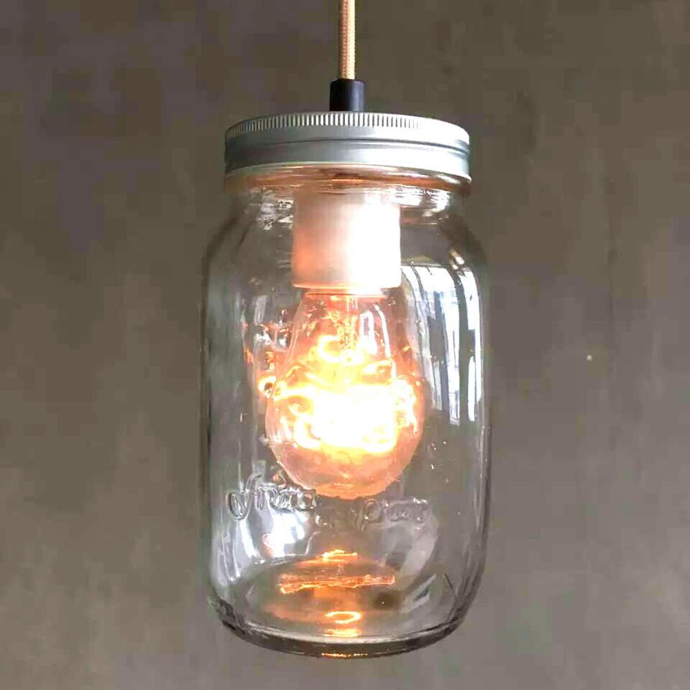 復古玻璃罐5燈造型吊燈(PO11801)