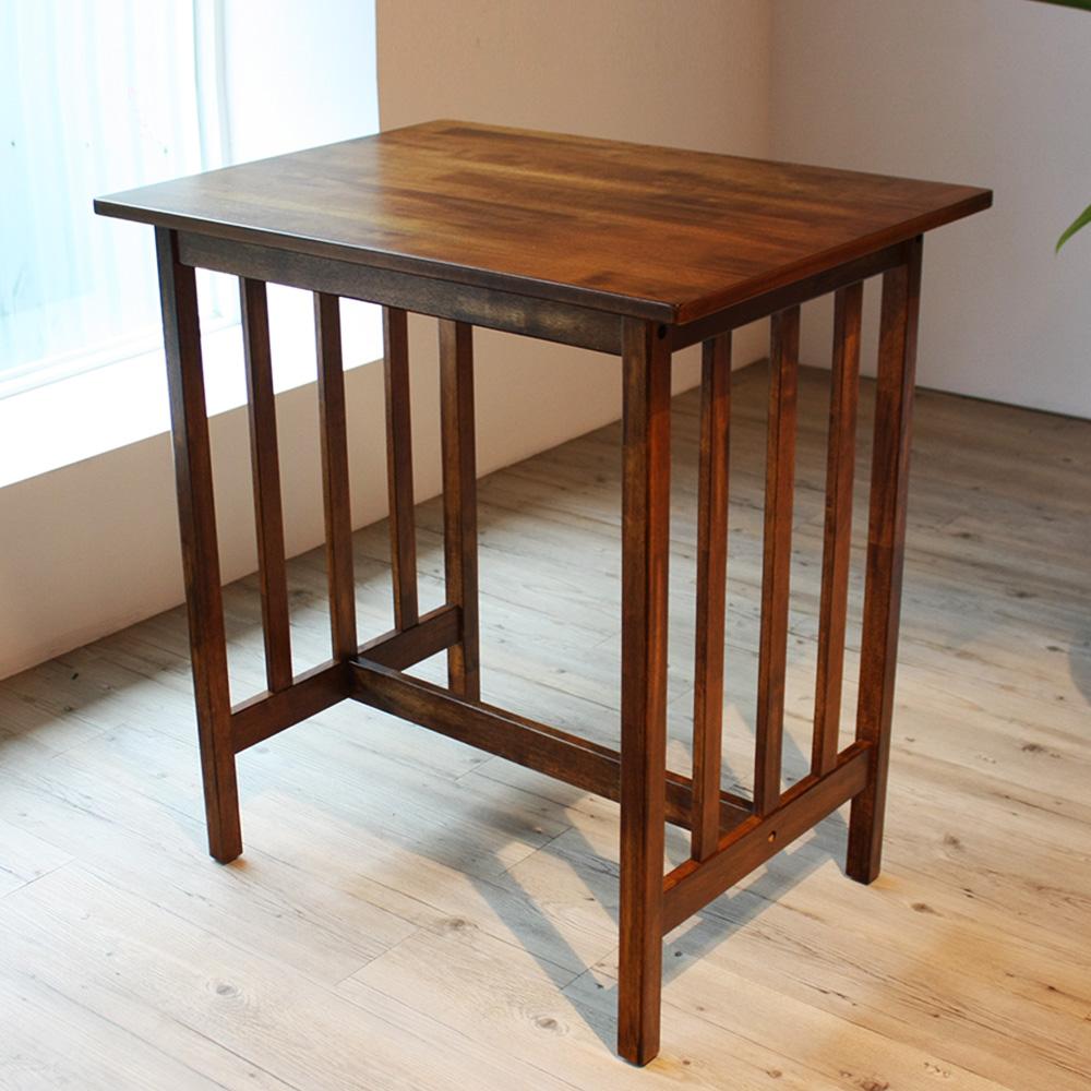 和郁濃園風情胡桃色吧台桌