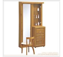 肯亞赤陽木3尺旋轉鏡台組/鏡台+化妝椅