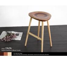 FAZA法拉小圓實木吧台椅