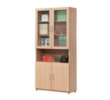普林白橡2.7尺木門書櫃