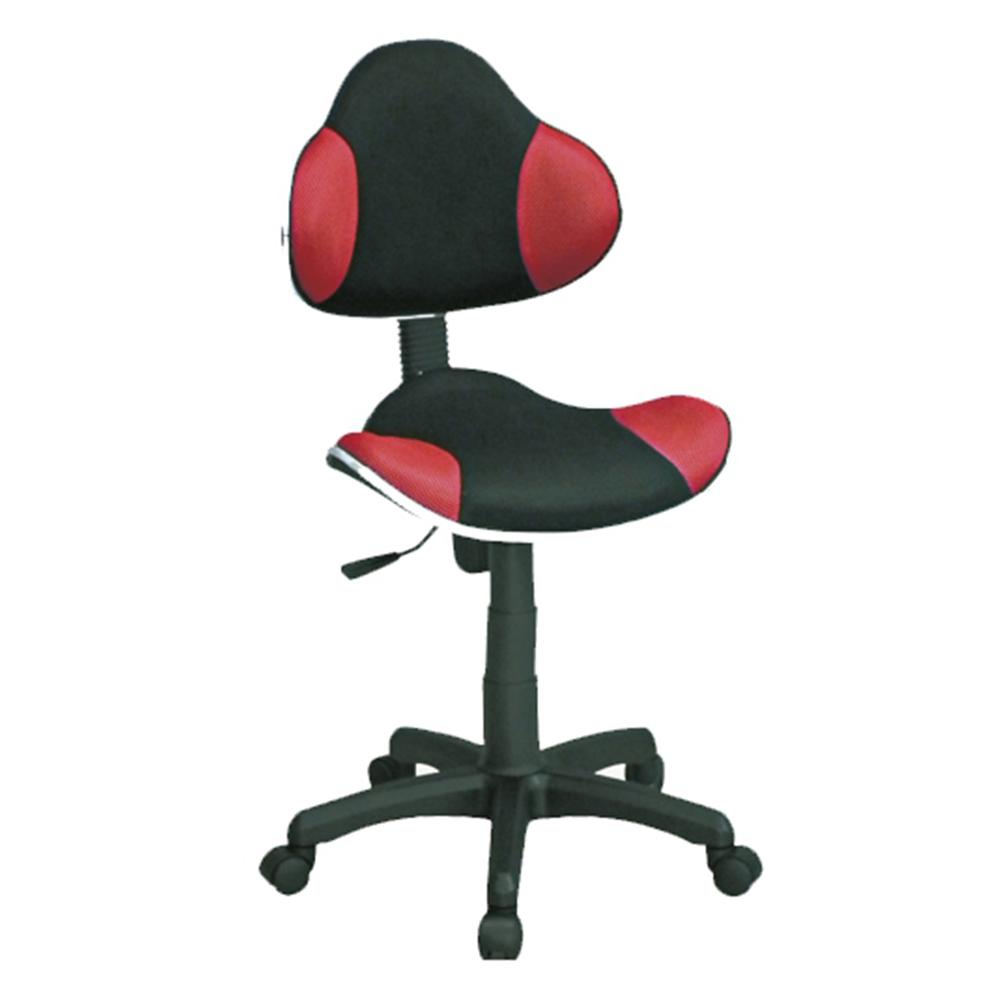 普爾精緻拼色辦公椅/電腦椅(紅色)