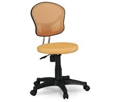 小巧橘色網布電腦椅/辦公椅