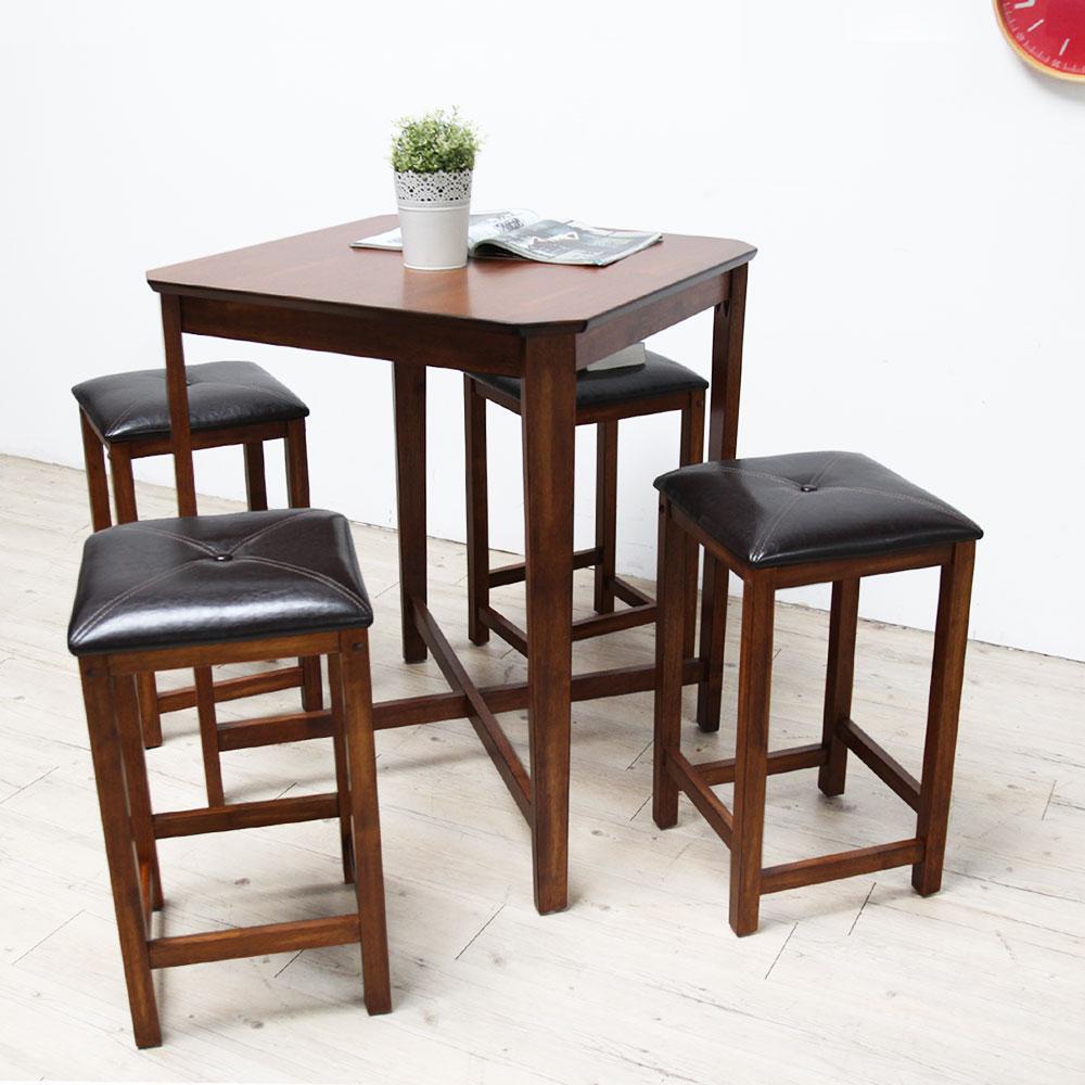 CHA古郁禪風吧台桌椅組-一桌四椅
