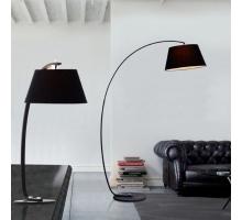 貝拉時尚黑色桌燈立燈雙件組