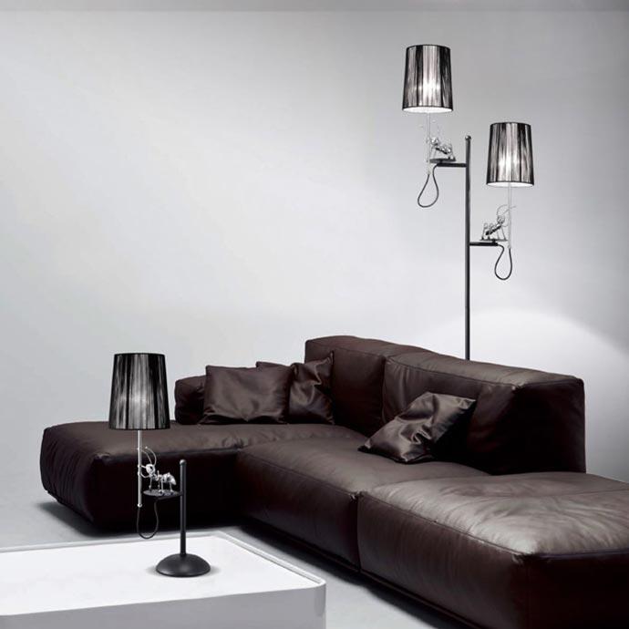 螞蟻造型黑色桌燈立燈雙件組