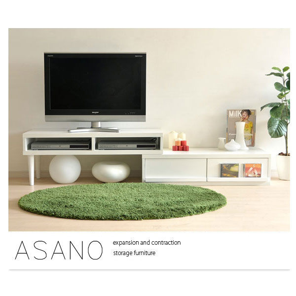 淺野收納伸縮電視櫃-2色(DIY自行組裝)