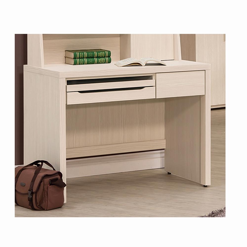米風白雪杉3.2尺書桌/電腦桌/工作桌