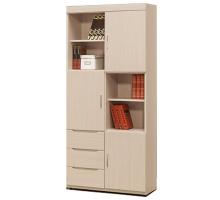 米風白雪杉2.7尺書櫥/書櫃(單個)
