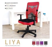 LIYA透氣網布高背辦公椅/電腦椅(附腰枕)-4色
