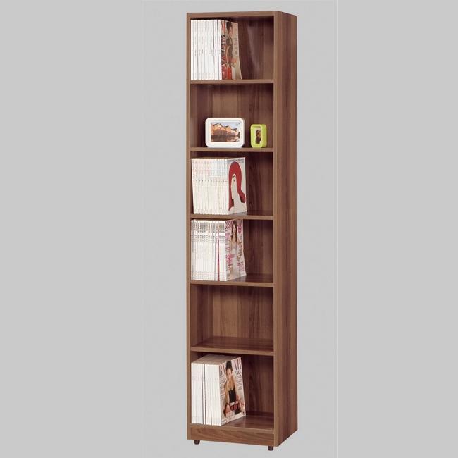 卡格斯1.5尺淺胡桃開放式書櫥/書櫃