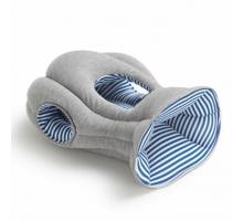 西班牙手工製創意鴕鳥枕-藍白條紋