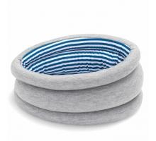 西班牙手工製遮眼安眠枕-藍白條紋