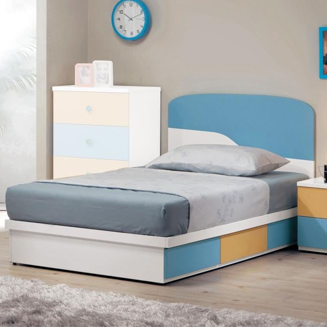 艾文斯3.5尺床片型單人床