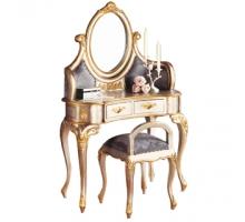 羅登法式香檳色化妝鏡台組(含椅)