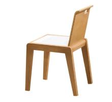 洛伊原木色化妝椅/餐椅
