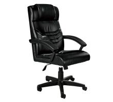 汀奇黑皮辦公椅/電腦椅