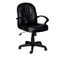 黛娜黑皮辦公椅/電腦椅