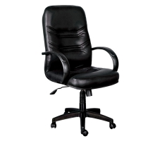 崔弟黑皮辦公椅/電腦椅