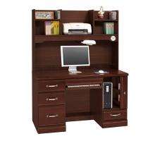 泰瑞爾胡桃半實木4.2尺電腦桌/書桌