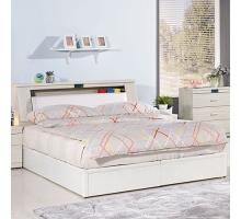 夏緹絲6尺床組/床頭箱+床底
