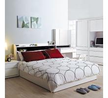 凡斯5尺双人床组-床头+床底