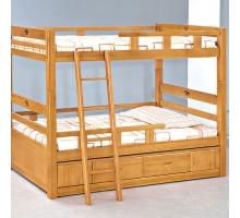 貝克3.5尺實木雙層床組