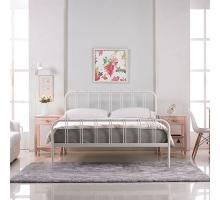 約瑟夫簡約舒適5尺白色鐵床床架