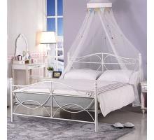 安德魯簡約5尺白色鐵床床架