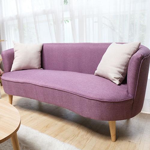 Barbie芭比圓弧俏皮三人布沙發。官網限定。