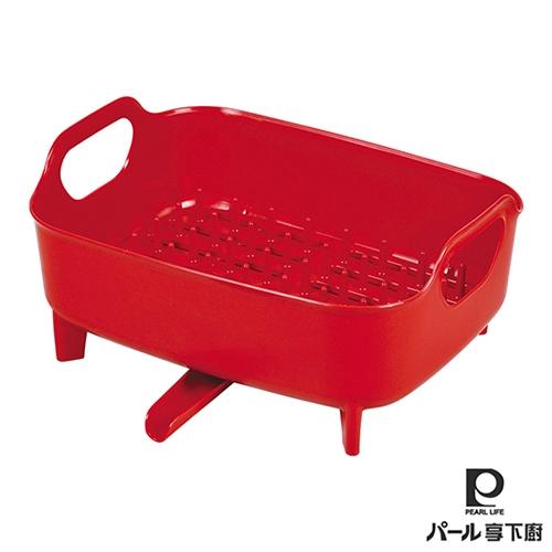 日本【Pearl Life享下廚】碗盤水切籃-3色