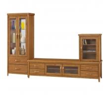 愛莉絲柚木9.5尺L型櫃/電視櫃