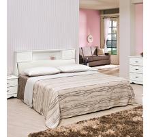 東尼白色5尺床組-床頭+床底2件組