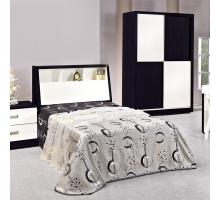 太極黑白色3.5尺床組-床頭+床底2件組