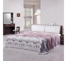 謝爾曼胡桃5尺床組-床頭+床底2件組