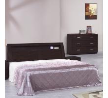 佛格森胡桃6尺床組-床頭+床底2件組
