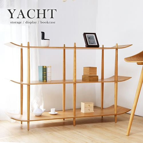 自然木作Yacht帆船造型5尺書架陳列架