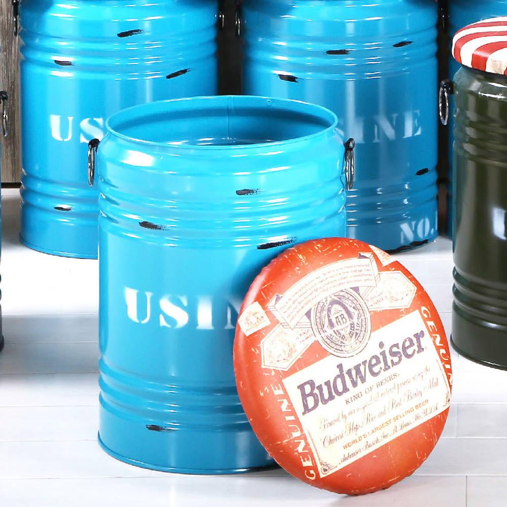 啤酒藍水桶收納椅凳