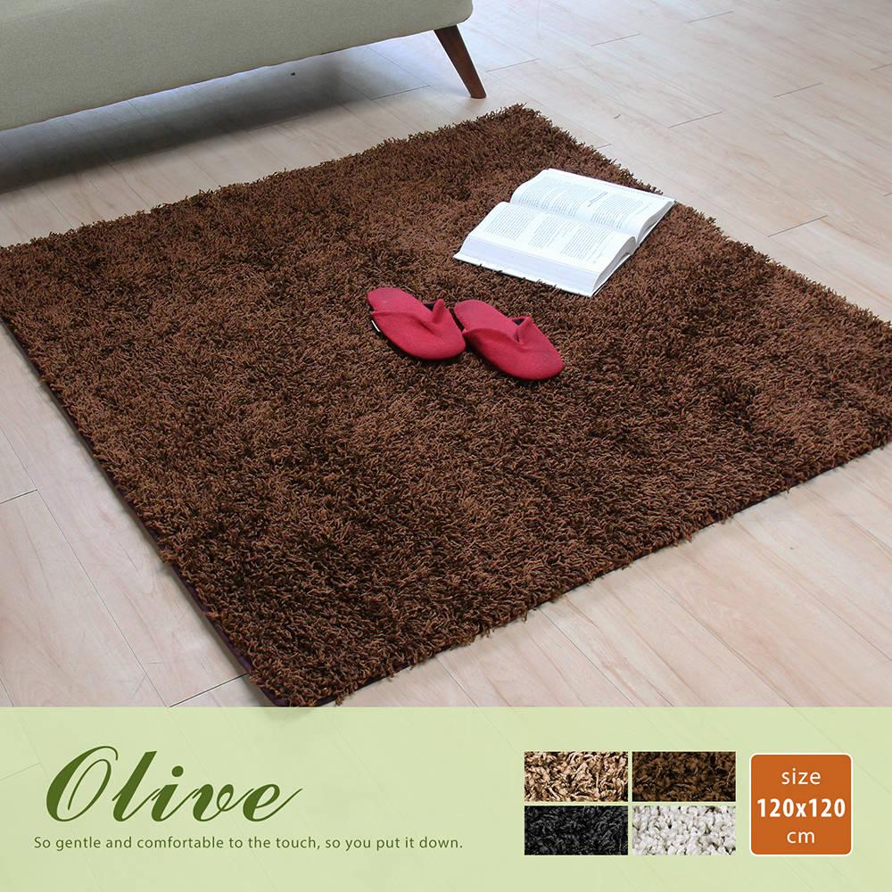 Okland奥克兰素色简约长毛方型地毯(120x120公分)