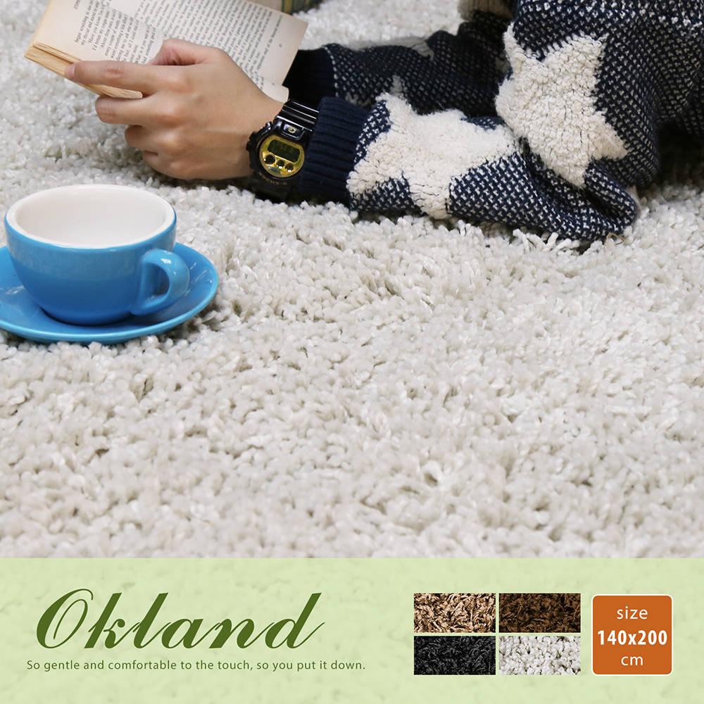 Okland 奥克兰素色简约长毛地毯(140*200公分)