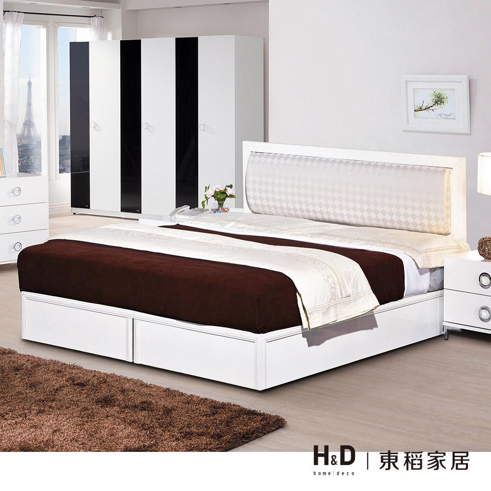 凱特白色3.5尺床片單人床組