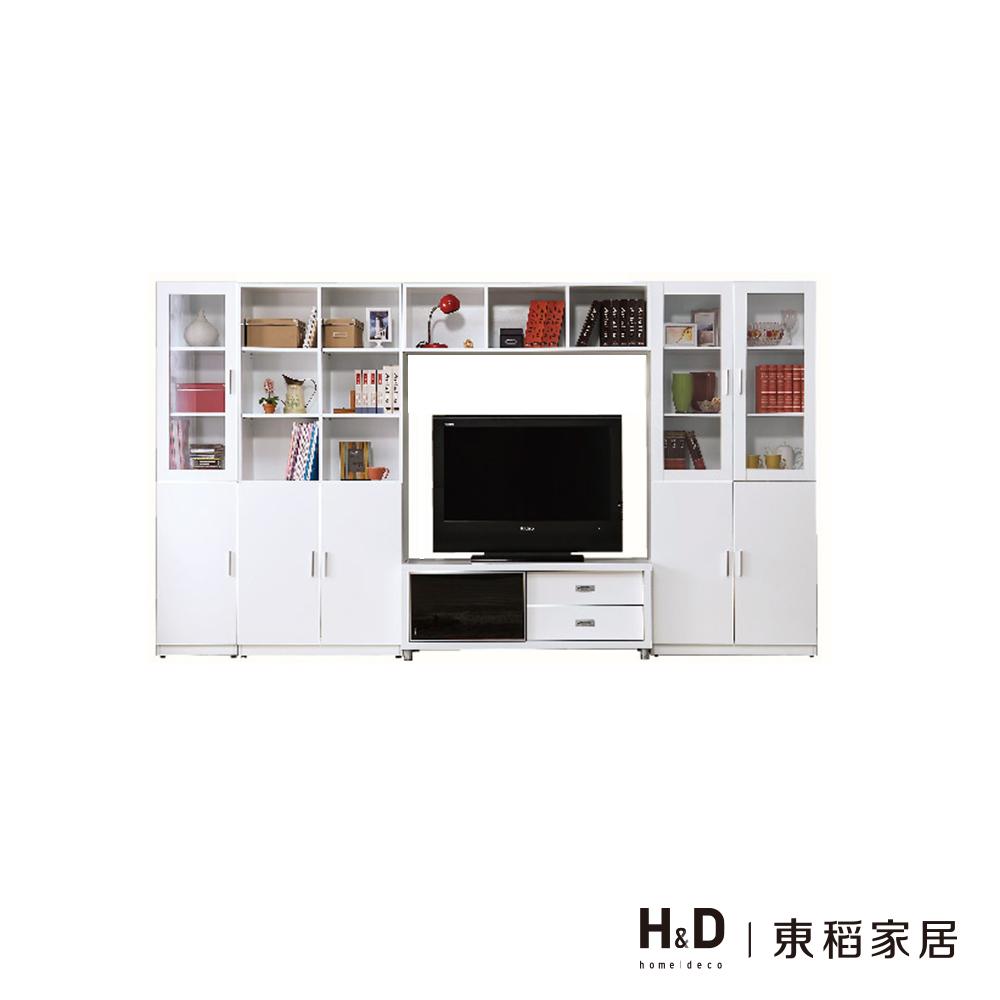艾美白色10.6尺X6尺電視牆