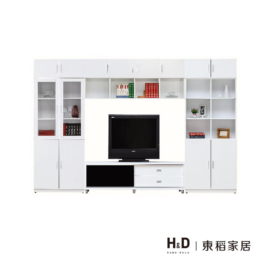 艾美白色10.3尺X7尺電視牆