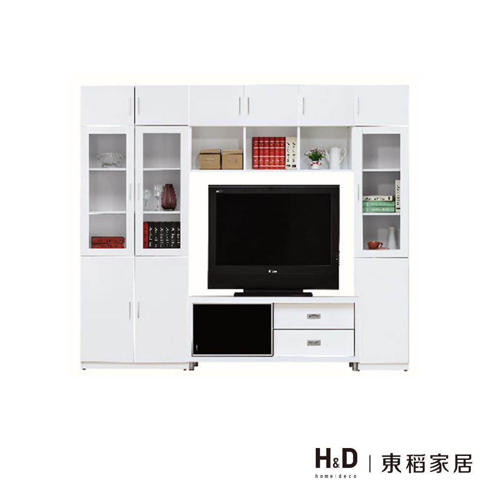 艾美白色8尺X7尺電視牆
