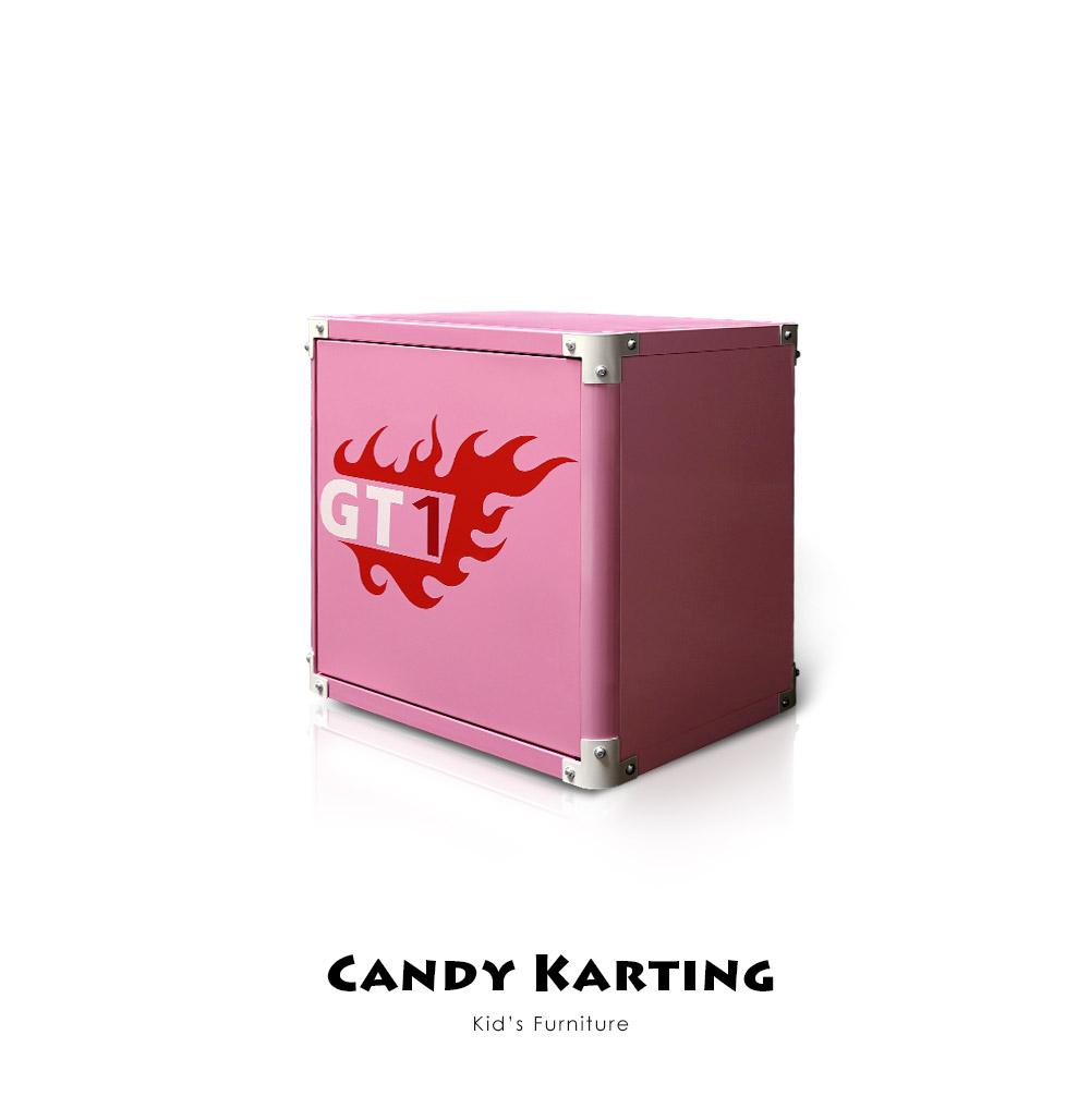 【Kids Neverland】糖果卡丁車加油箱床邊櫃