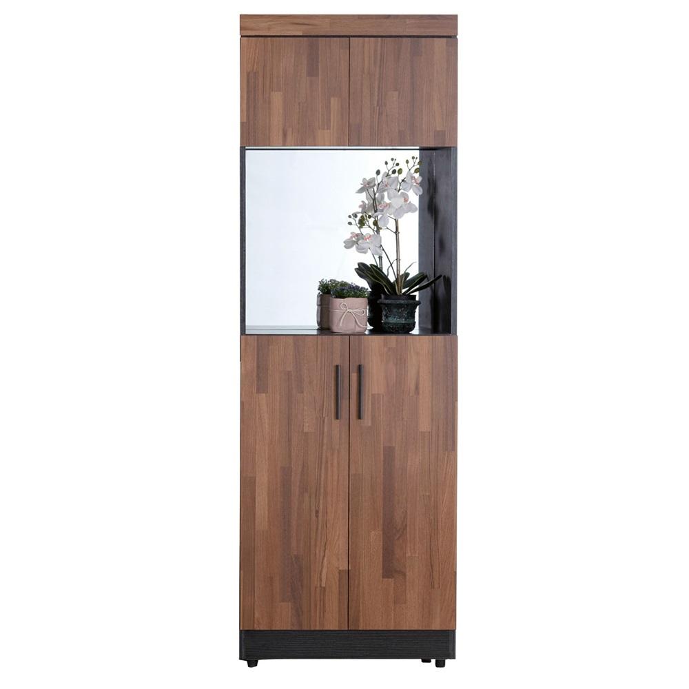 尚恩2x6尺雙色中空鏡面高鞋櫃