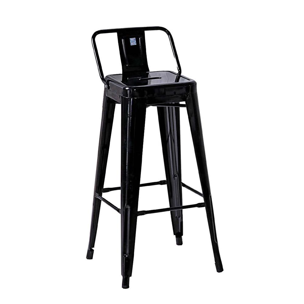 哈利黑色加背吧台椅