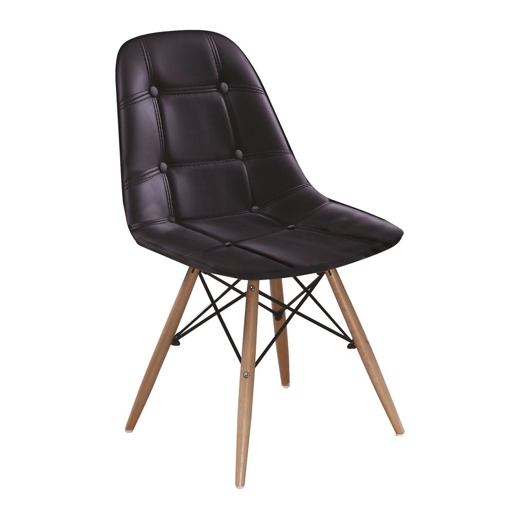 迪妮黑皮餐椅