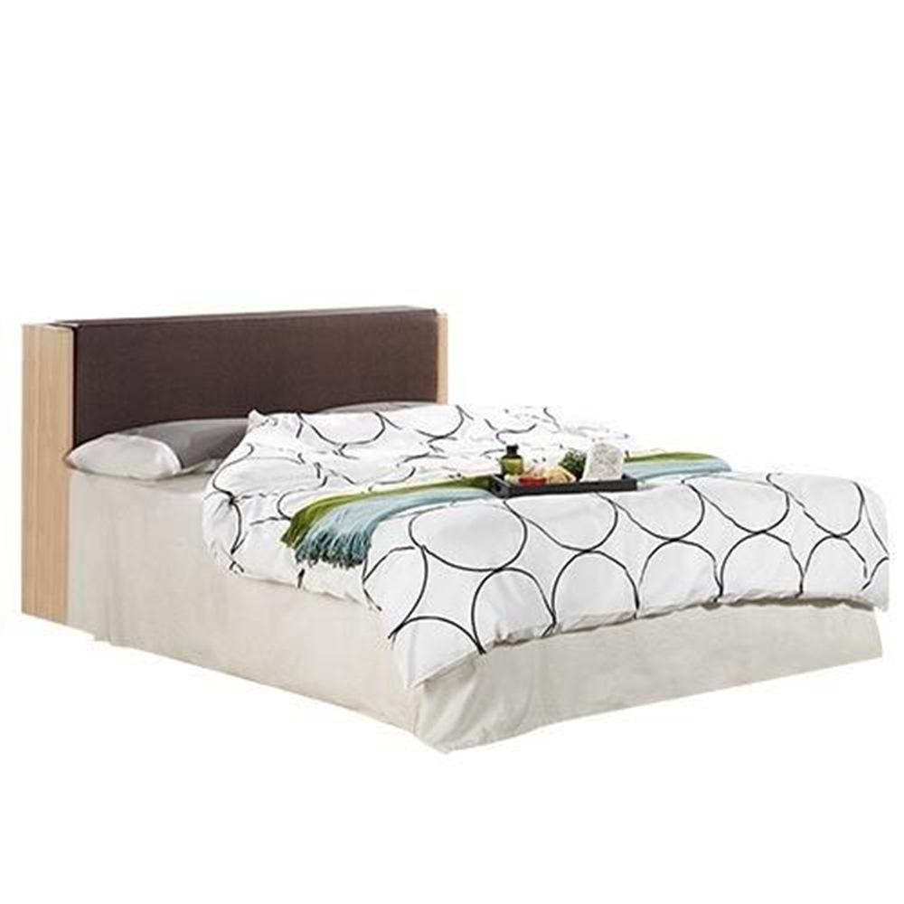 文森5尺橡木紋被櫥雙人床[含白橡床底]